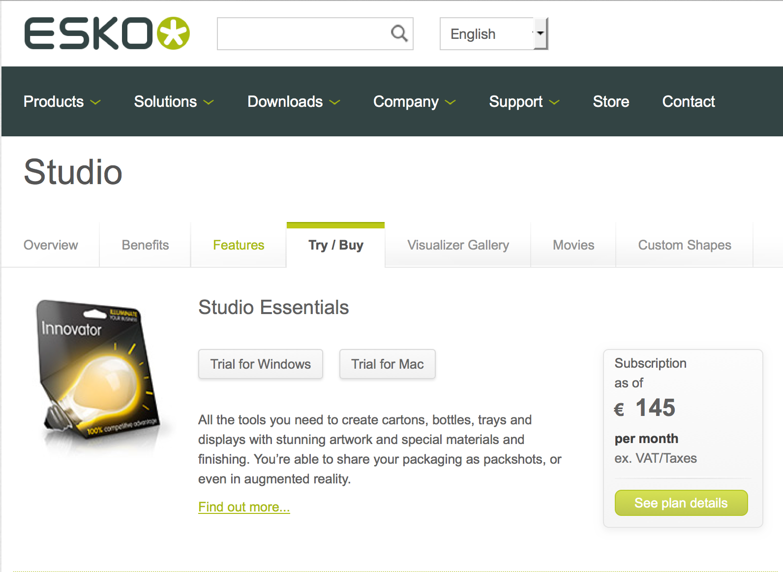 KB152240400: Studio - How to start a Studio product trial