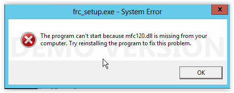 mfc120.dll missing download