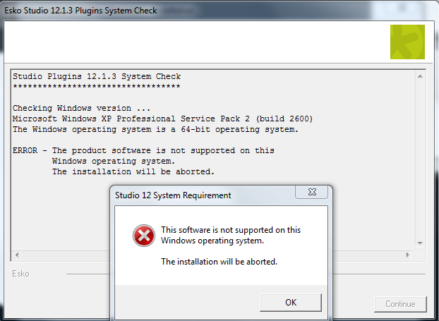 KB87954553: Studio - Software not supported on this Windows