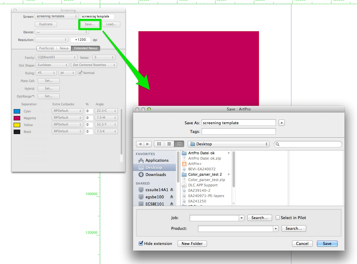 Kb94274308 artpro how to create a screening template knowledge change the settings as per your requirement give the template a name and save it maxwellsz