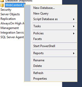 KB168628390: WebCenter - Microsoft SQL Server 2014/2016
