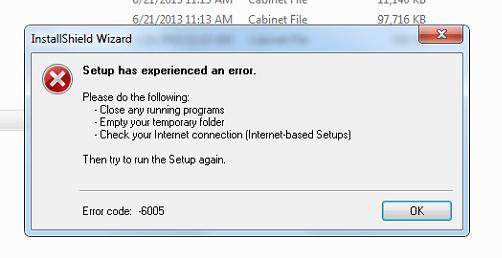 KB79695222: Installation Error -6005 - Knowledge base