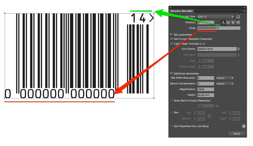 KB175575018: Dynamic Barcodes - How to create an EAN-2 addon
