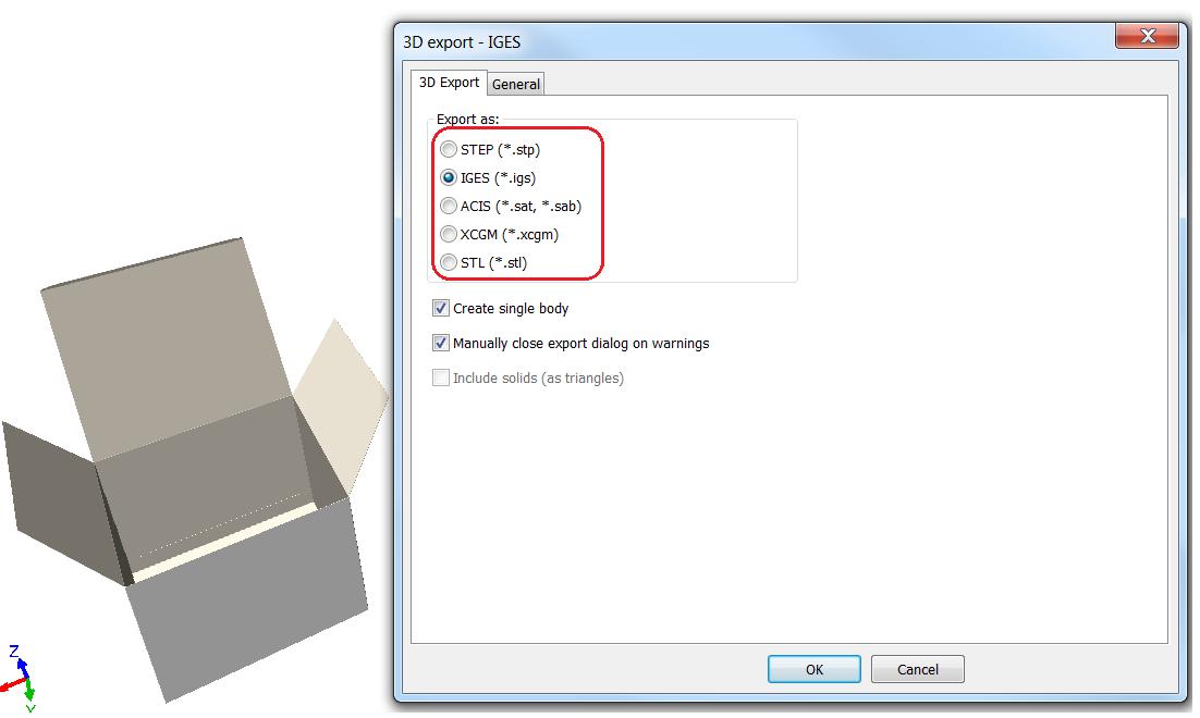 KB180110123: ArtiosCAD - What do I do if my IGS or STP
