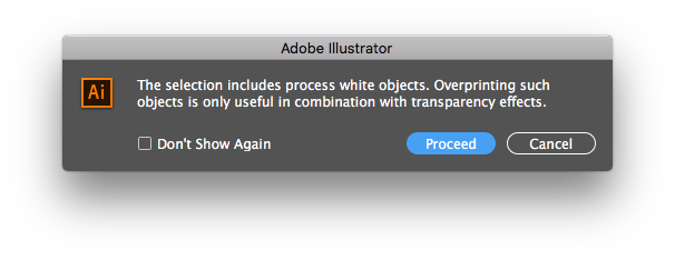 KB205228355: Process white (0% CMYK) overprinting objects in PDF and
