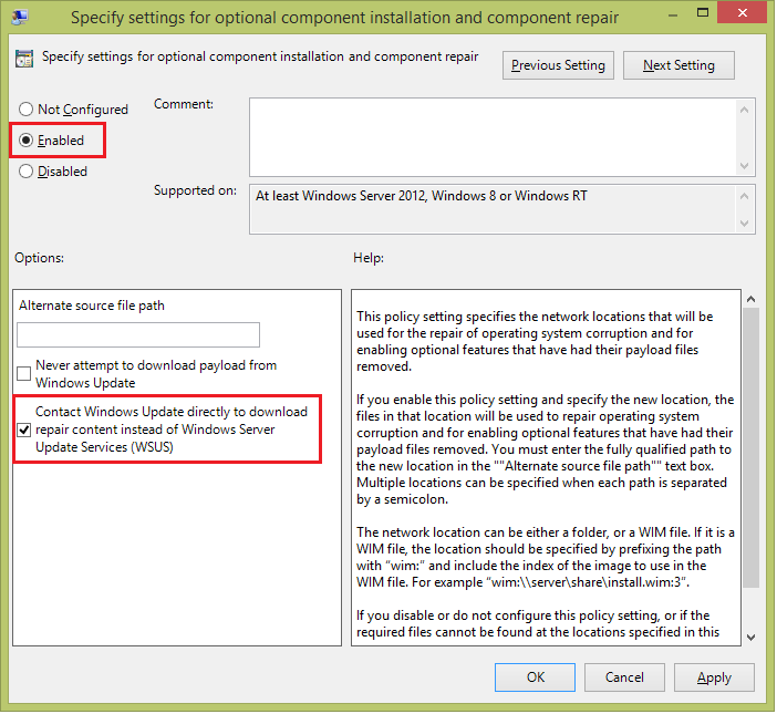 KB208233361: How to install  NET 3 5 on Windows 2012