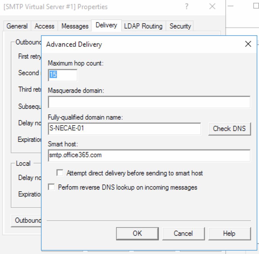 KB191629632: Configuring Virtual SMTP server to allow