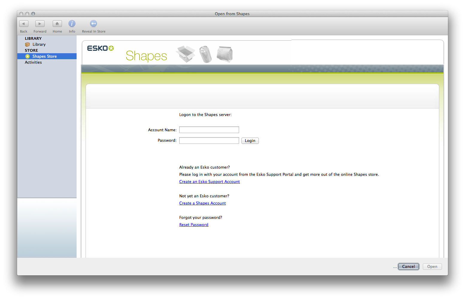 Shop customer account create downloader downloader/downloader - Do You Already Have An Esko Id For Logging Into Shapes