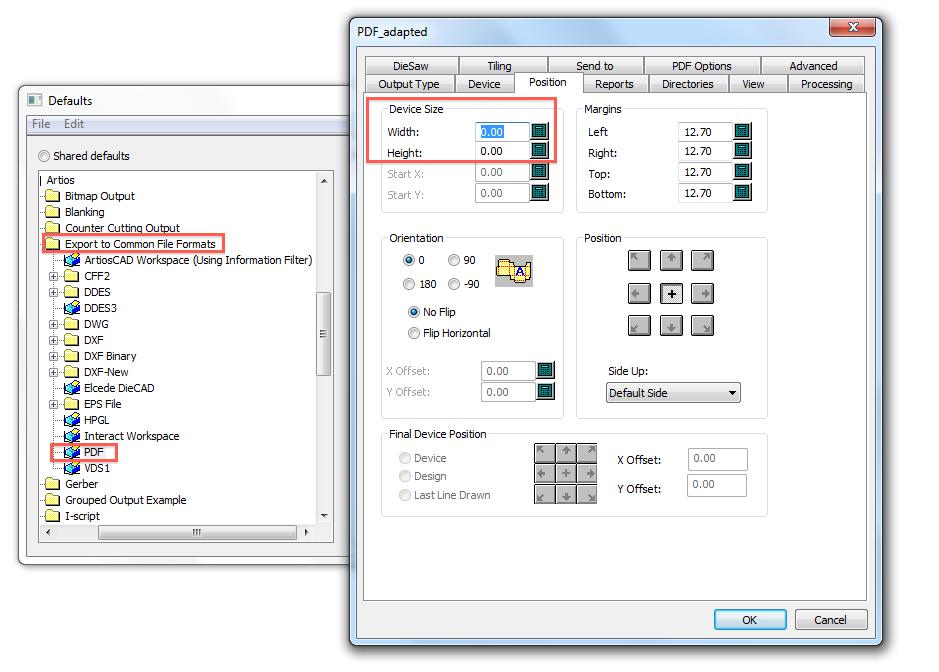 KB75769810: ArtiosCAD - How to output design on a single page PDF
