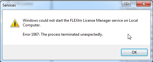 KB87955653: FLEXlm License Manager - Service will not start